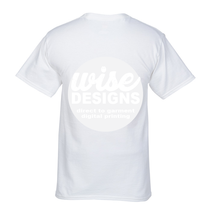 Black T Shirt Large Logo High Resolution with Direct to Garment Printer at Wise Designs Dunsborough